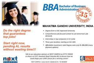 Bachelor of Business Administration (BBA) Degree in Srilanka
