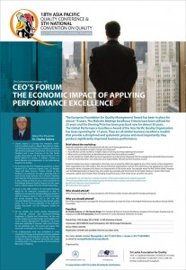 CEO's Forum the Economic Impact of Applying performance Excellence Workshop in Srilanka