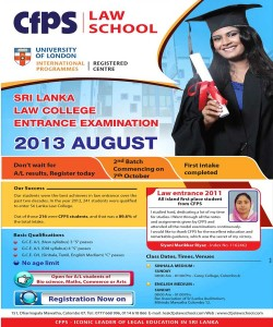 CFPS Law Entrance Classes for August 2013 Law Entrance examinations