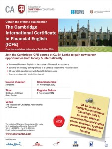 Cambridge International Certificate in Financial English (ICFE) by ICASL
