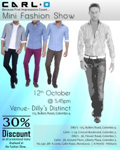 Carl.O Mini Fashion Show and sales on Dilly's Distinct on 12th October 2012