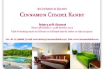 Cinnamon Citadel Kandy 30% off till 30th October 2012