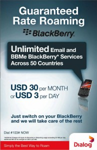 Dialog Blackberry Roaming Offers
