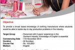 Diploma in Clothing Manufacturing Management Part time Programme in Srilanka