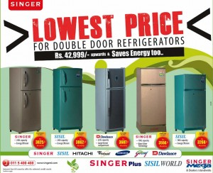 Double Door Refrigerators from Singer