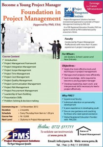 Foundation in Project Management Programme from Project Management Solution (PMS)