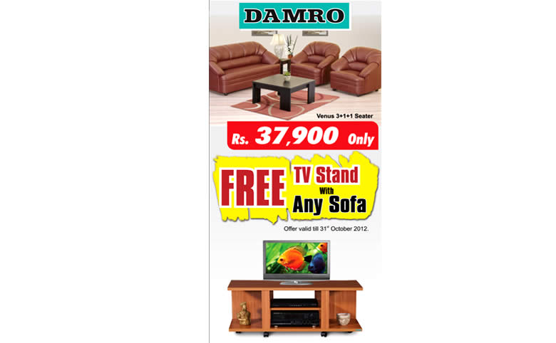 Get Free Tv Stand With Any Sofa Purchases From Damro