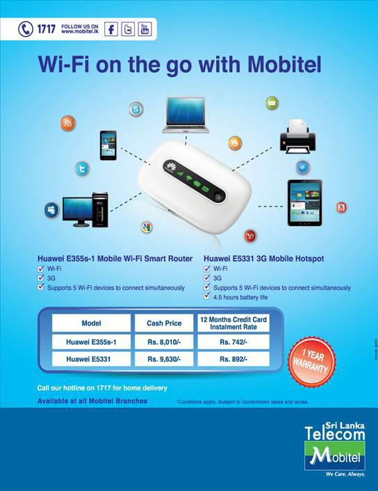 Huawei Wi Fi Router From Mobitel 171 Synergyy