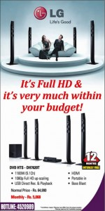 LG HD Home Theater system for Rs. 64,990.00