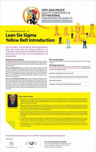Lean Six Sigma Yellow Belt Introduction – Pre Conference in Srilanka
