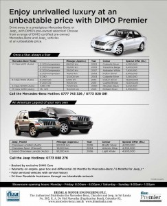 Mercedes Benz, Jeep Model Pre Own Selections at DIMO Srilanka