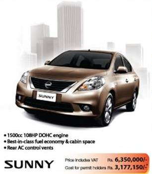 Nissan Sunny 1 5l For Rs 6 350 000 With Vat In Srilanka Synergyy