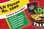 Pizza Hut Large Pan Pizza now Rs. 1,000.00 Only