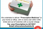 Prescription Medicine Home Delivery in Srilanka