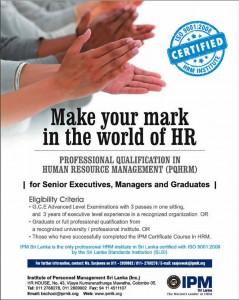 Professional Qualification in Human Resource Management (PQHRM) in Srilanka