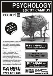 Psychology Degree Programmes in Srilanka