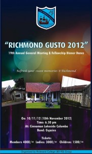 Richmond College – Richmond Gusto 2012 on 10/11/12