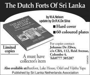 The Dutch Forts of Srilanka – A Publication