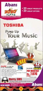 Toshiba Satellite Laptops for Rs. 84,900.00