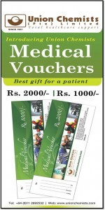 Union Chemists Medical Vouchers to gift