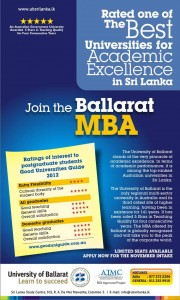 University of Ballarat MBA in Srilanka