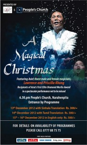 A Magical Christmas in Srilanka – 13th to 16th December 2012