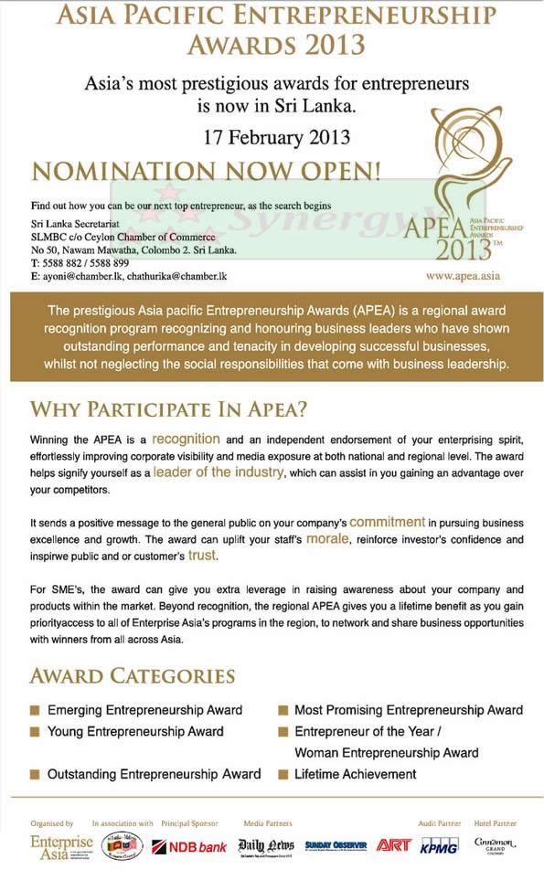 Asia pacific Entrepreneurship Awards 2013 – Nominations ...