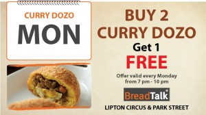 Buy 2 Curry Dozo get 1 FREE from BreadTalk Srilanka