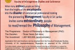 Doctor of Philosophy in Management Programme from University of Sri Jayewardenepura