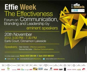 Effie Week, Effective Communication Forum on 20th November 2012