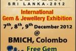 Jewels Srilanka 2012 – International Gem & Jewellery Exhibition – 7 to 9 Dec. 2012