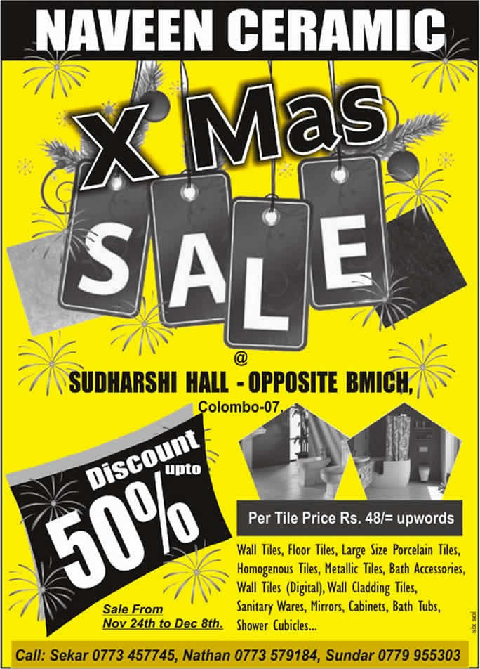Naveen Ceramic X Mas Sales Discounts Up To 50 From 24th