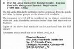 Public Comments for Draft Srilanka Standard