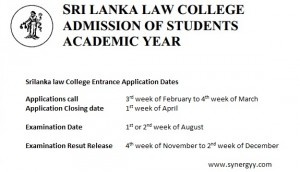 Srilanka Law College Entrance Exam – Application, Examination and Result Releasing Dates
