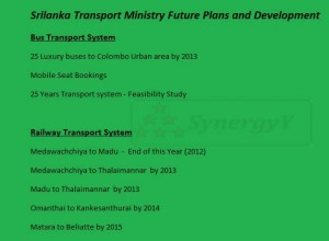 Srilanka Transport Ministry Future Plans and Development