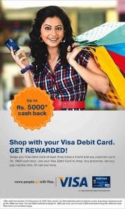 VISA Cash back offer from 15 Oct. to 15 Dec. 2012
