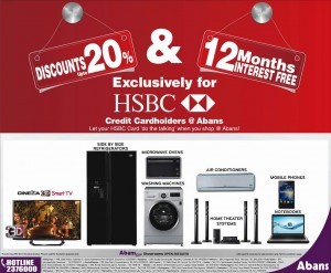 20% Discount for HSBC Credit card at Abans Srilanka