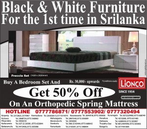 50% off for exclusive Black & White furniture in Srilanka