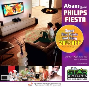 Abans Philips Fiesta for Star Points till 31st Dec. 2012