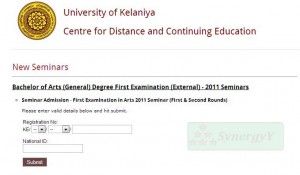 BA (General) Degree First Examination (External) 2011 Seminars
