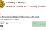 Bachelor of Science (General) Degree First Examination – 2009 Result
