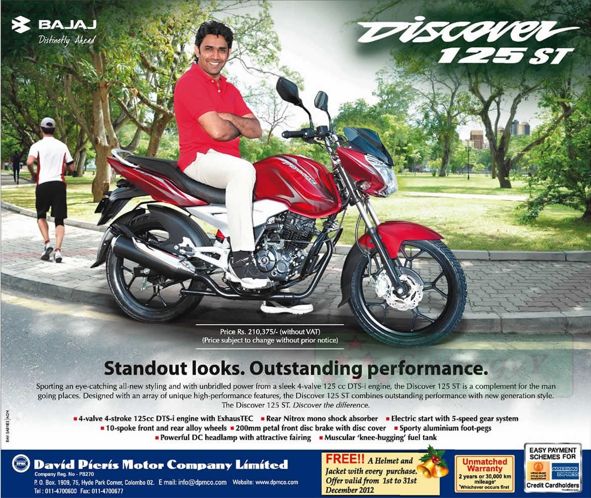 Bajaj Bikes In Sri Lanka Bajaj Discover ST Rs