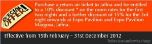 Buy Expo Air flight ticket and enjoy special discounts on Expo Pavilion up to 15%