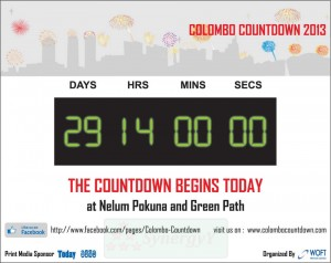 Colombo Countdown 2013 Starts at Nelum Pokuna and Green Path