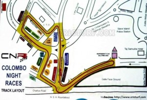Colombo Night Race 2012 Map