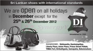 DI Leather Showrooms opens on all Holidays in December 2012