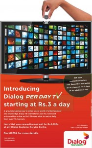 Dialog per Day TV offer on 7 days free Trails till End Dec. 2012