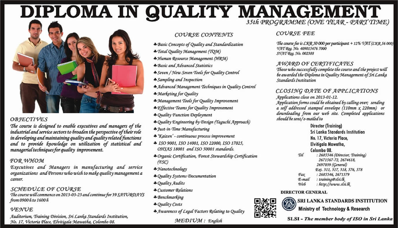 Quality management diploma in abu dhabi