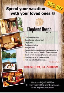 Elephant Reach Yala 35% off for this season