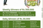 Etisalat Mega Cash Prize Winners for 2012 – Name List attached